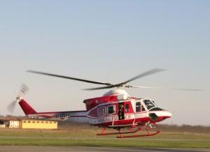 Un elicottero in dotazione ai Vigili del Fuoco.