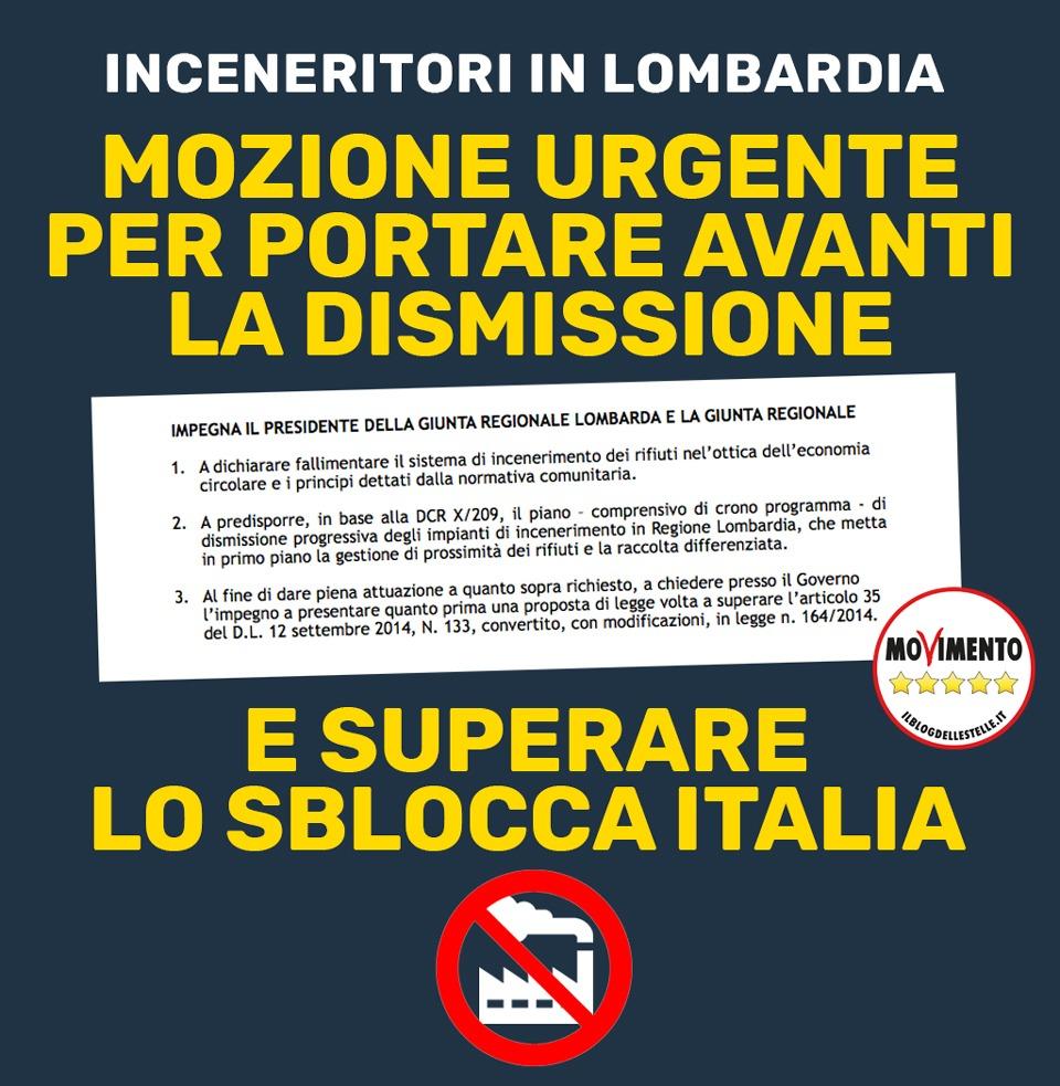 """Inceneritori: """"Superare lo Sblocca Italia e lavorare a un piano di dismissione in Regione Lombardia"""" - M5S notizie m5stelle.com"""