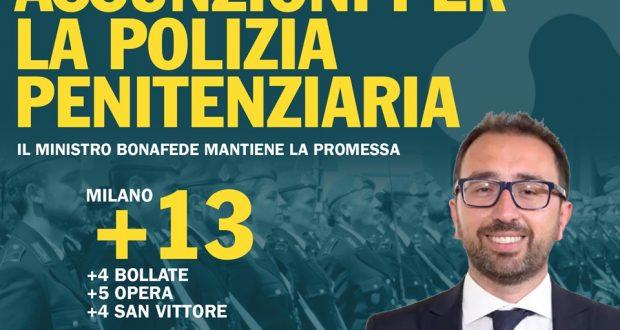 Sicurezza carceri, 115 nuovi agenti di polizia penitenziaria assunti in Lombardia