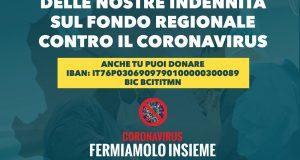 """Doniamo nostra indennità per emergenza Coronavirus: """"gesto concreto"""""""