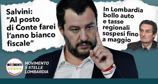"""Lombardia rinvia tasse a giugno. M5S Lombardia: """"Misura tardiva e timida, non è sufficiente facciano di più. Serve il semestre bianco"""""""