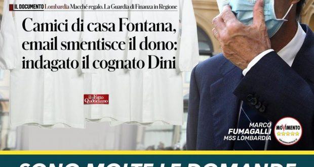 Fontana spieghi immediatamente in aula. Inchieste non garantiscono serenità per rilancio Lombardia post Covid