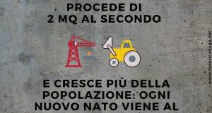 IN ITALIA SI NASCE GIÀ CON LA PROPRIA PORZIONE DI CEMENTO: 135 MQ PER OGNI NEONATO.