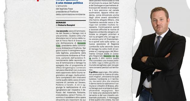 """Vasca laminazione Senago, De Rosa (M5S) risponde a Pase (Lega): """"Dichiarazioni vergognose e aberranti"""""""
