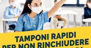 """Tamponi antigenici: """"Riapertura scuole Regione Lombardia adotti i tamponi rapidi per scongiurare il rischio di un lockdown indiretto"""""""