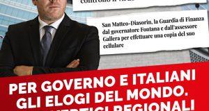 Per Governo e italiani gli elogi del mondo, per i vertici regionali la GDF in casa