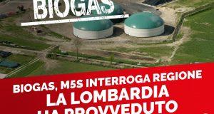 """BIOGAS, M5S INTERROGA REGIONE: """"LA LOMBARDIA HA PROVVEDUTO A CENSIRE GLI IMPIANTI?"""""""
