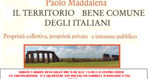 """""""Il Territorio Bene Comune degli Italiani"""" partecipa al convegno"""