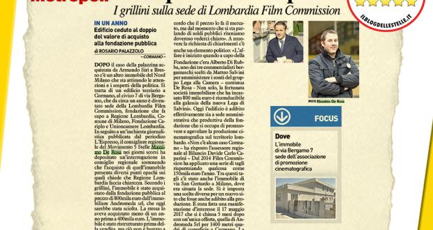 Cormano: palazzina Film Commission, no all'uso disinvolto dei soldi pubblici