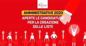 Amministrative 2020: aperte le candidature per la creazione delle liste