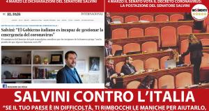 Salvini contro l'Italia