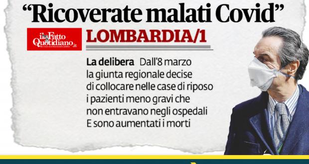 "Caos RSA. Fumagalli (M5S Lombardia) a Fontana: ""Insistere sulle responsabilità altrui è infantile"""