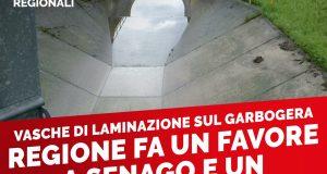 """Vasca laminazione Garbogera: """"Se Senago sorride, Limbiate piange. Per la Lega non tutti i lombardi sono uguali"""""""