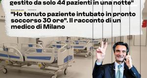 Fontana è concentrato su rosso e arancione, mentre gli ospedali milanesi arrancano. Anche questo avviene a sua insaputa?