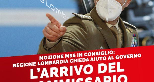 REGIONE LOMBARDIA CHIEDA AIUTO AL GOVERNO, DOMANI IN CONSIGLIO LA MOZIONE M5S MERCOLEDI' ARRIVA IL GENERALE FIGLIUOLO