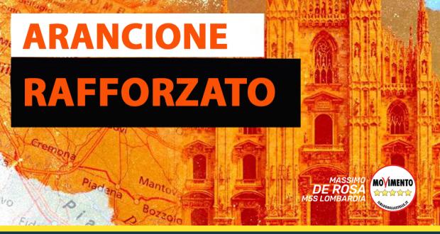 """LOMBARDIA ARANCIONE RAFFORZATO: """"TROPPI ERRORI INTERVENGA IL PRESIDENTE DRAGHI: SENZA LOMBARDIA L'ITALIA NON RIPARTE"""""""