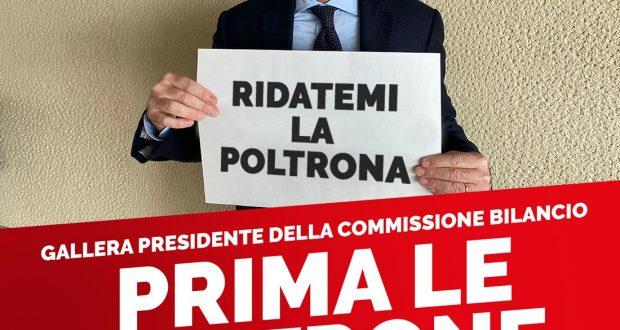 Gallera presidente della commissione Bilancio: «Le poltrone prima dell'interesse collettivo, questo è il centrodestra in Lombardia»