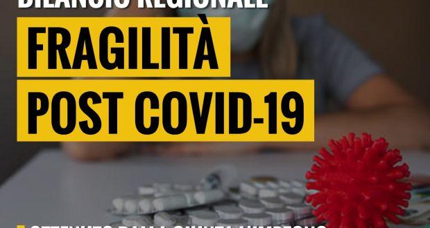 Bilancio Regionale, patologie post Covid: ottenuto l'impegno della giunta a non dimenticarsi di chi è ancora fragile